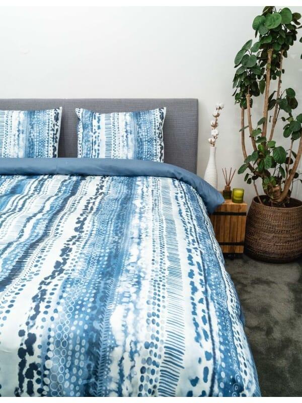 Kayori Dashi - Bettwäsche - Baumwolle-satin - Blau