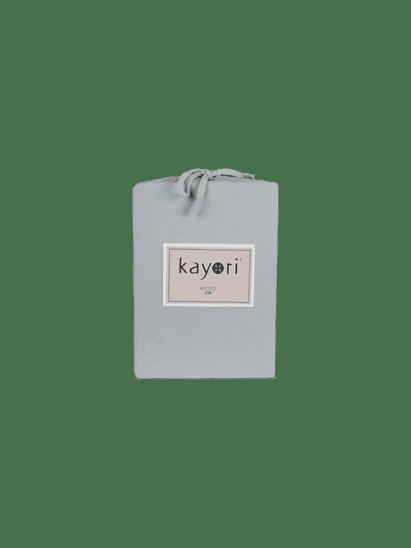 Kayori Kyoto -Topper Hoeslaken -Jersey - Zilvergrijs