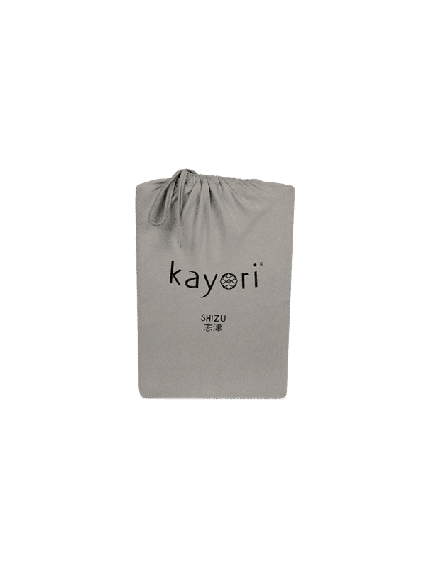 Kayori Shizu Spannbettlaken Jersey - Taupe