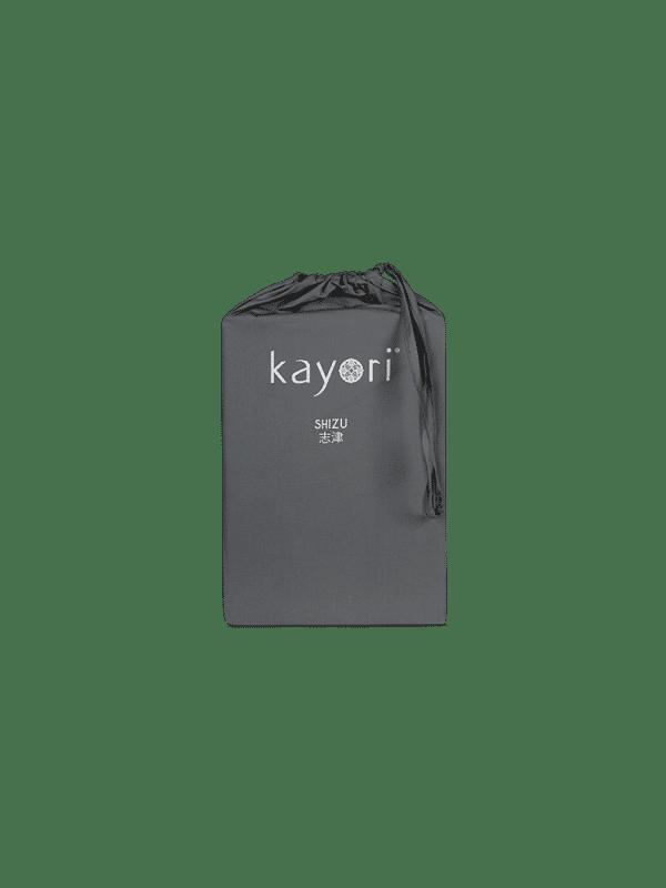 Kayori Shizu Split Topper hoeslaken Perkal - Antracite