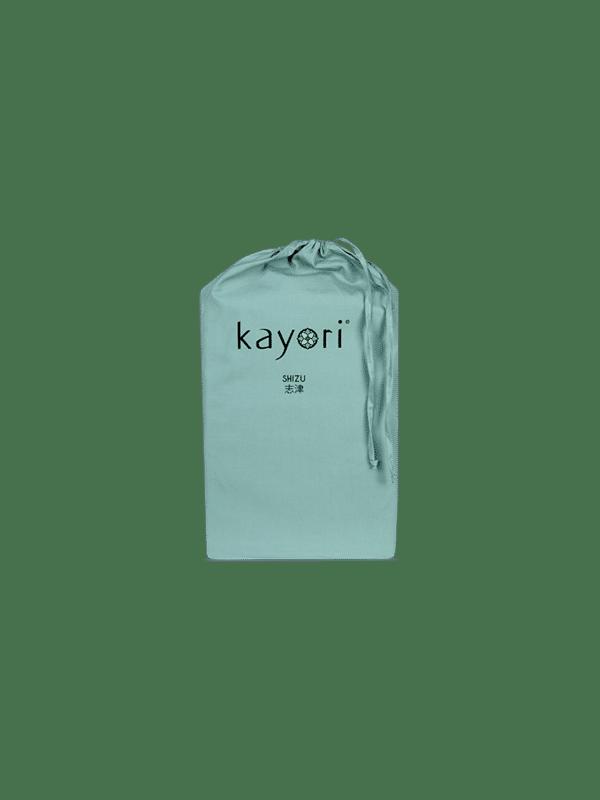 Kayori Shizu Split Topper hoeslaken Perkal - Groen