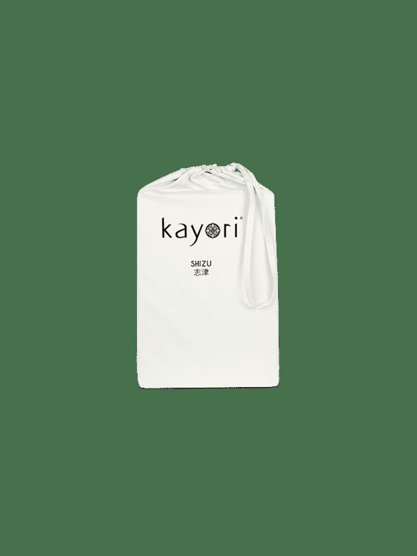 Kayori Shizu - Dubbele Split topper hoeslaken - Perkal - Offwhite
