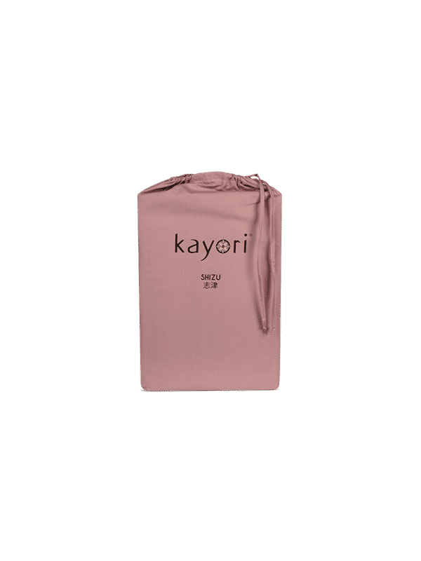 Kayori Shizu Split Topper hoeslaken Perkal - Oudroze