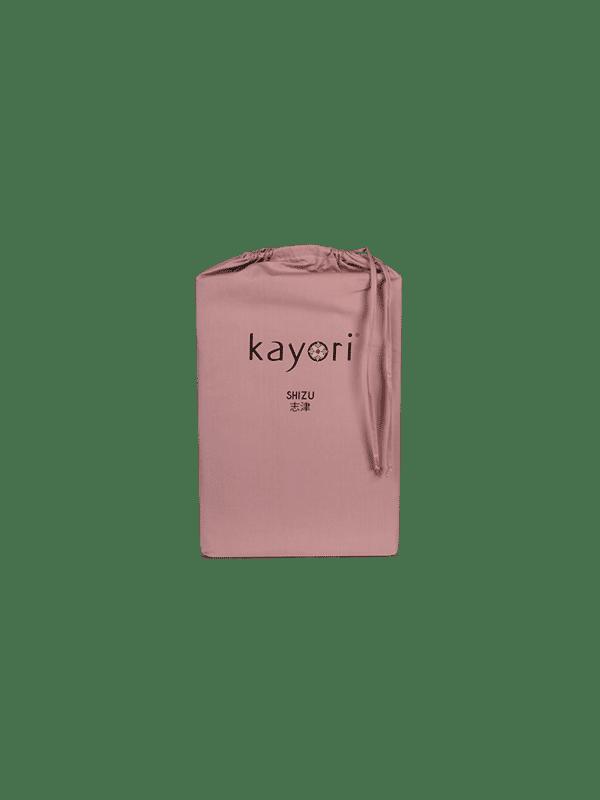 Kayori Shizu - Dubbele Split topper hoeslaken - Perkal - Oudroze