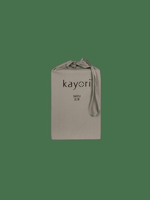 Kayori Shizu Split Topper hoeslaken Perkal - Taupe
