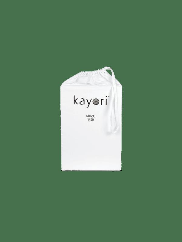 Kayori Shizu Split Topper hoeslaken Perkal - Wit