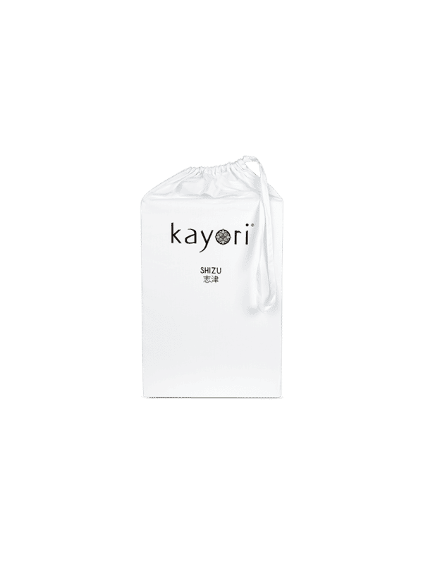 Kayori Shizu Topper hoeslaken Perkal - Wit