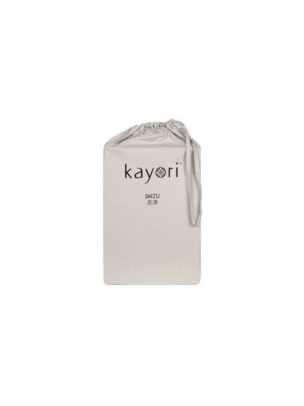 Kayori Shizu Split Topper hoeslaken Perkal - Zand