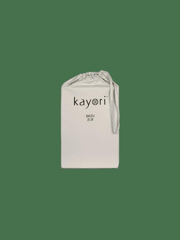 Kayori Shizu Spannbettlaken Perkal - Sand