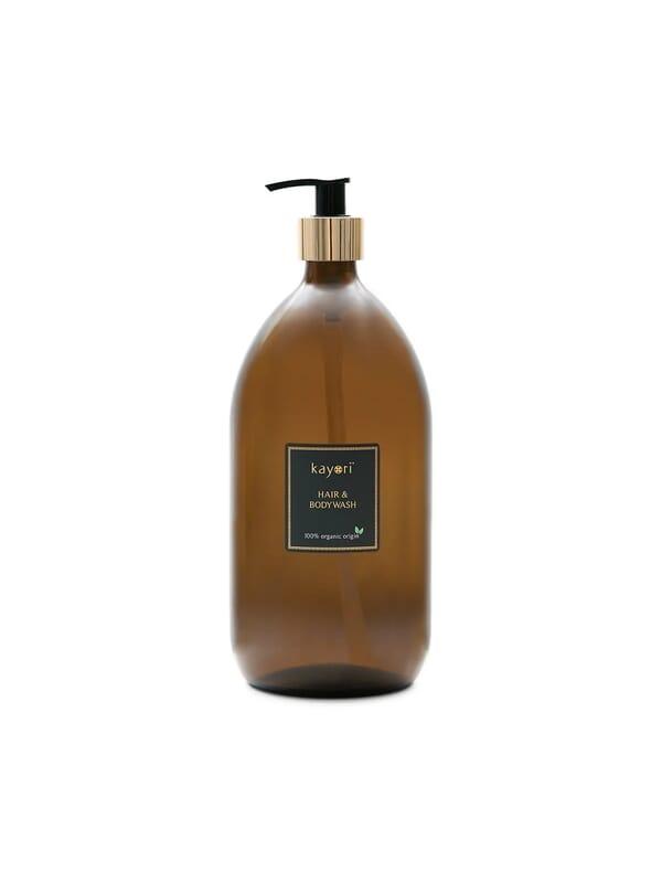 Kayori - Hair & Body Wash - Glas - 1000ml - Yuzu