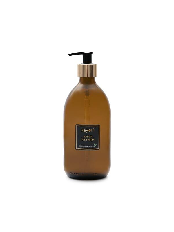 Kayori - Hair & Body Wash - Glas - 500ml - Hazakura