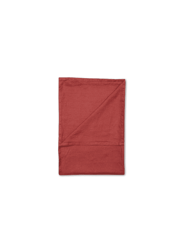 Kayori Nikko - Tagesdecke - Leinen - 180/260 - Rot