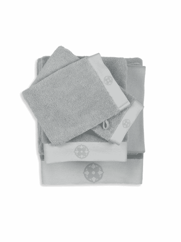 Kayori Yu - Gästentuch - 30x50 - Silbergrau