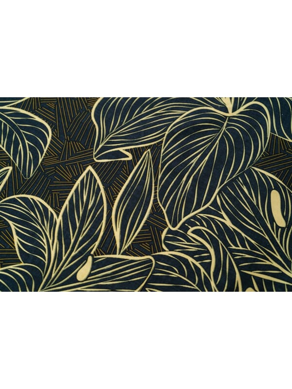 Kayori Lily - Dekbedovertrek - Katoensatijn - Zwart